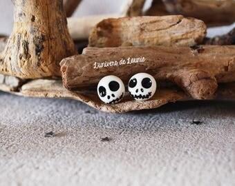 Jack Skellington chips earrings / glow / Mr Jack / Halloween