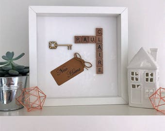 Personalised scrabble frame - new home, house warming gift