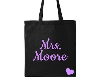 Bride Tote - Personalized Bride Bag - Future Mrs - Bride Gift - Bridal Shower Gift - Personalized Bride Gift - Tote Bag - Multiple Colors