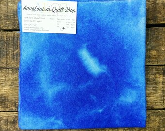 Hand-dyed Wool Fat Quarter -- Soaring Skies Blue -- FQ9874