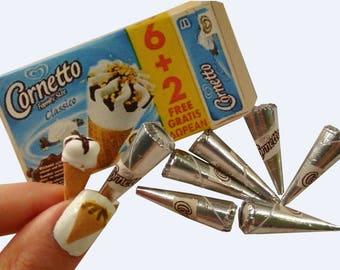Cornetto ice cream miniature