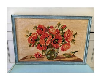 Vintage retro handmade  tapestry large picture