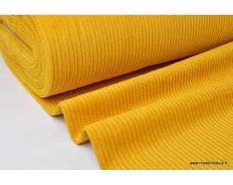Velvet corduroy ribbed mustard .x1m