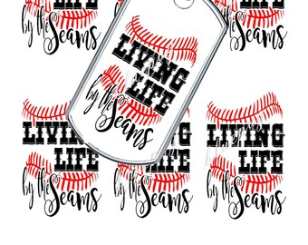7 Living Life by the Seams Dog Tags Images Photo Quality 4x6 Sheet Digtal Download Printable Super Hero Necklaces, Key Chains