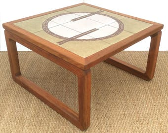 Danish Tiled Coffee Table by Gangso Mobler 1970,s