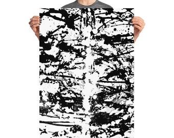 Black and White Swirls (Print)