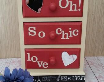 "Mini chest drawers decorative ""so chic"""