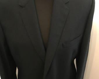 Alexandre Exclusive Men's Navy Suit. Pure Wool Men's Suit.