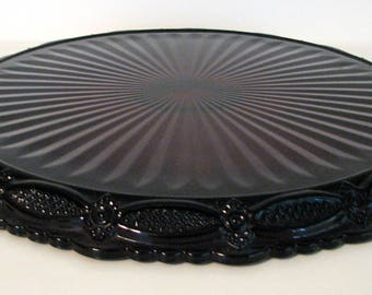 Avon Cake plate Cape Cod Ruby Red Top