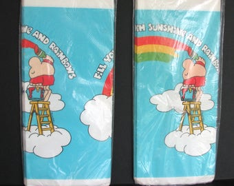 Vintage Ziggy Tablecloth American Greetings Rainbows NOS Paper Party