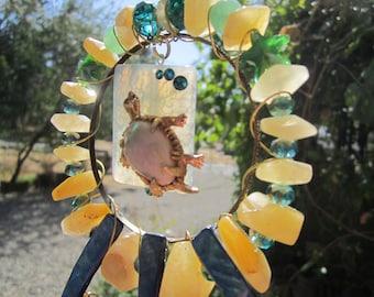 Turtle Abstract Sun Catcher #202