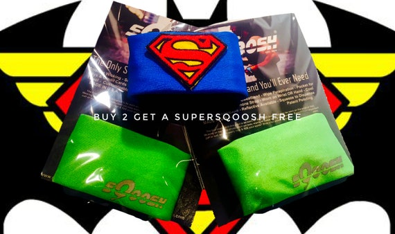 Pair of Lime sQoosh Sweatbands & Free Superman SUPERSQOOSH