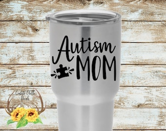 Autism Mom Decal | Autism Awareness Decal | Puzzle Piece Decal | Autism Decal | Autism Sticker | Car Decal | Yeti Decal