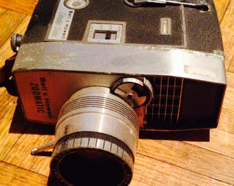 Bell and Howell zoomatic  Vintage movie camera 1960's