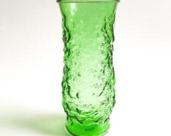 Vintage flowers vase EO Broody, Green vase
