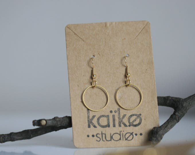 Various Geometric Brass Earrings | Minimalist | Geometric | Gift