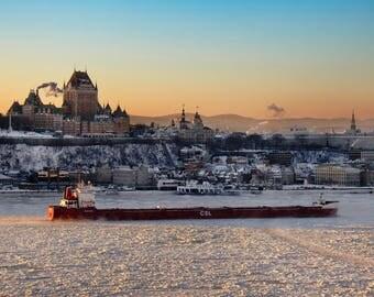 SMALL SIZE - Photography - Frontenac Castle - Québec city