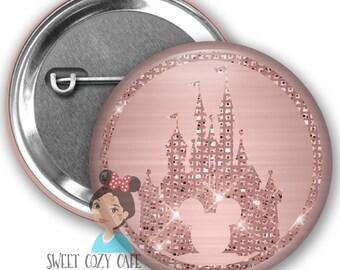 Rose Gold Castle Park Button