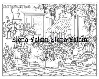 DIGITAL Coloring pages The Garden