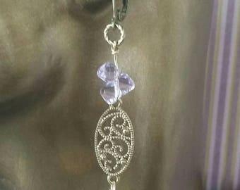 Lavender dangle earrings