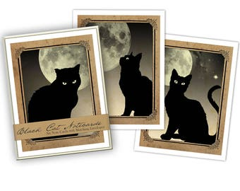 Black Cats Boxed Note Card Set