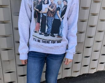 FRIENDS TV SHOW, Sublimated Crew Neck, Graphic Grey Sweatshirt. Perfect for Fall!