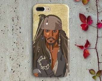 Captain Jack Sparrow iPhone case Johnny Depp Samsung S8 S8 Plus case S7 S6 S5 Pirates of the Caribbean phone case iphone 7 Plus 6 Plus case