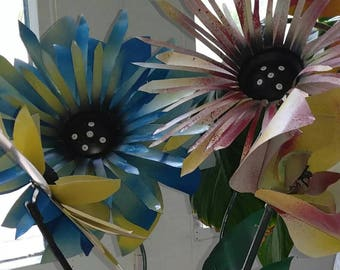 Handmade aluminum flowers