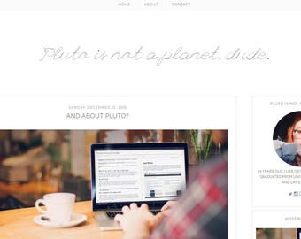 PLUTO | Responsive Blogger Template