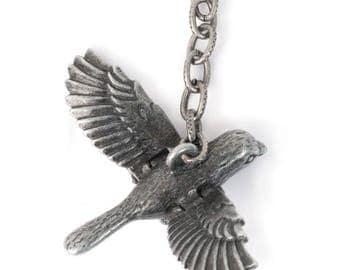 Bird w/ Hinged Wings Charm (STEAM327)