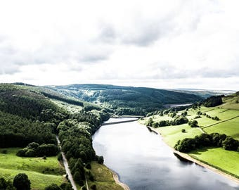 Derwent Reservoir - Landscape Photography - Fine Art - Drone Photography - Derwent - Landscape Print - Drone Photo - Derwent - 0167