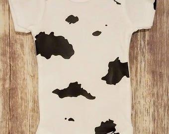 Cow Onesie Bodysuit - Funny onesie - New baby gift - Baby shower gift - Holstein onesie