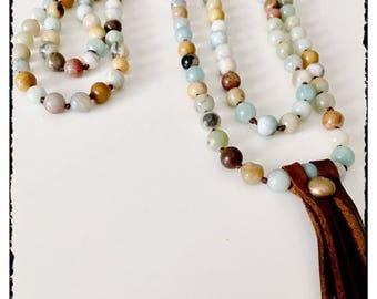 Boho extra long necklace