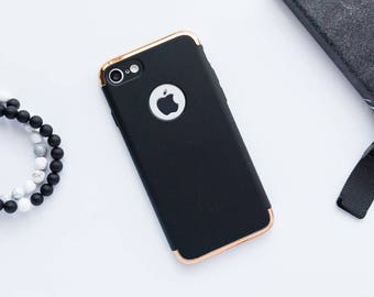Matte Black And Gold iPhone X Case iPhone 8 Case iPhone 8 Plus Case iPhone 7 Case iPhone 7 Plus Case iPhone 6s Case iPhone 6s Plus Case Gold