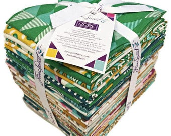 Joel Dewberry Modernist Fat Quarter Bundle - 31 pieces quilting cotton freespirit precut modern florals green FB1FQJD.42016