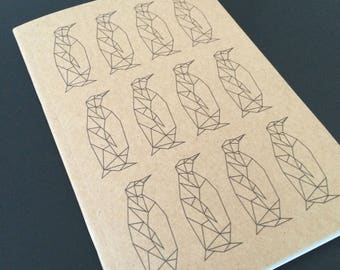 A6 Penguin Pattern Notebook
