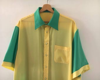 Rockabilly Shirt Vintage//Bowling Shirt
