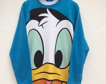 Vintage Donald Duck Sweatshirt / Donald Duck T Shirt / Walt Disney / Mickey Mouse / American Cartoon