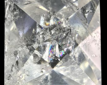 659 ct Octahedron d8 Clear Quartz Crystal Sacred Geometry Platonic Solids O11