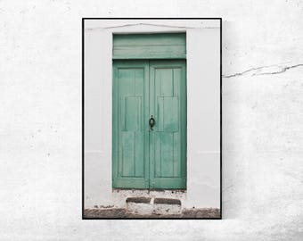 Green Door photography poster Lanzarote photography print from 45 x 30 cm