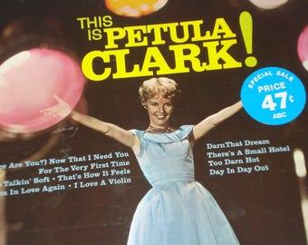 Petula Clark vinyl record album, This Is Petula Clark! vintage vinyl record