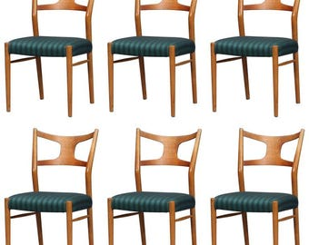Rare Dining Chairs by Kurt Østervig, Set of Six
