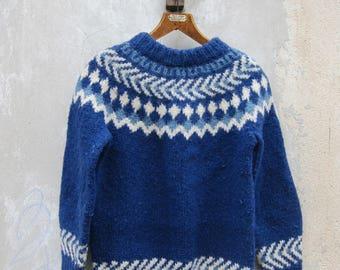 Woolen chunky knit sweater