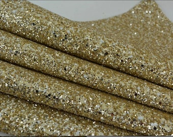 Glitter fabric, pale gold. Pale gold chunky glitter fabric. Bow making fabric. Just pale gold