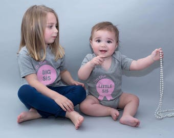Sister Shirts-Sister outfits-Little Sister shirt-Big Sister shirt-Sibling Shirts-Shirt Set Siblings-Girl sibling outfits-Little Sister shirt