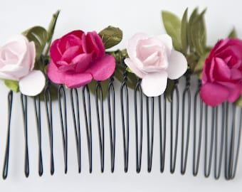 Flowers for Bohemian hair comb