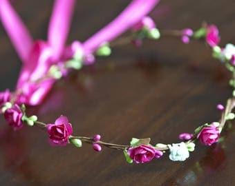 Crown of flowers and berries
