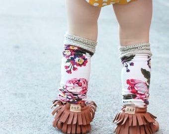 Boho Floral LegWarmers/ Toddler leg warmers/ knee high/ thigh high/ socks/ baby leg warmers/ lace/ vintage/