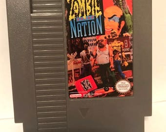 Zombie Nation NES fan made reproduction