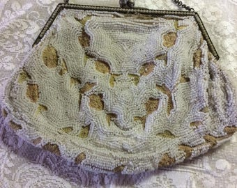 Antique Purse, Micro Beading and Embroidery